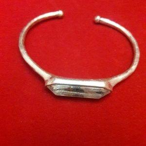 Silver Rustic Cuff Bracelet